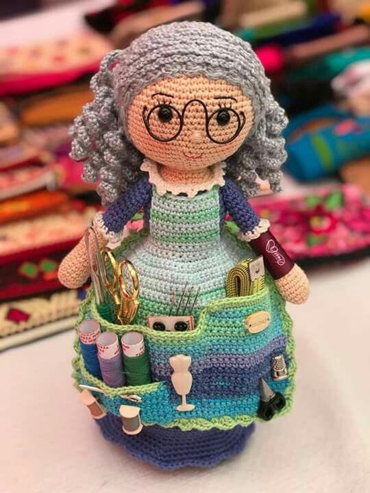 Crafter Doll Organizer Free Crochet Pattern
