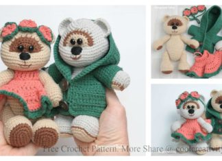 Amigurumi Honey Teddy Bears in Love Free Crochet Pattern