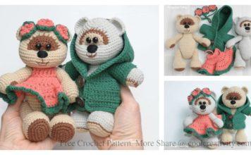 Amigurumi Honey Teddy Bears in Love Free Crochet Pattern