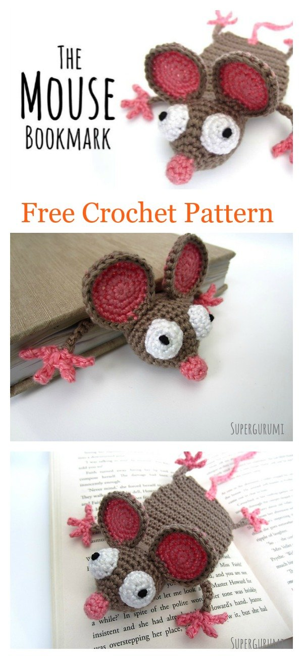 Amigurumi Mouse Bookmark Free Crochet Pattern