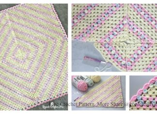 C2C Granny Stitch Blanket Free Crochet Pattern