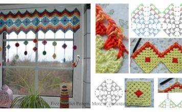 Granny Square Curtain Free Crochet Pattern