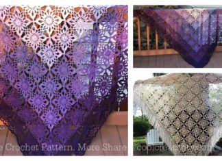 Gypsy Queen Shawl Free Crochet Pattern