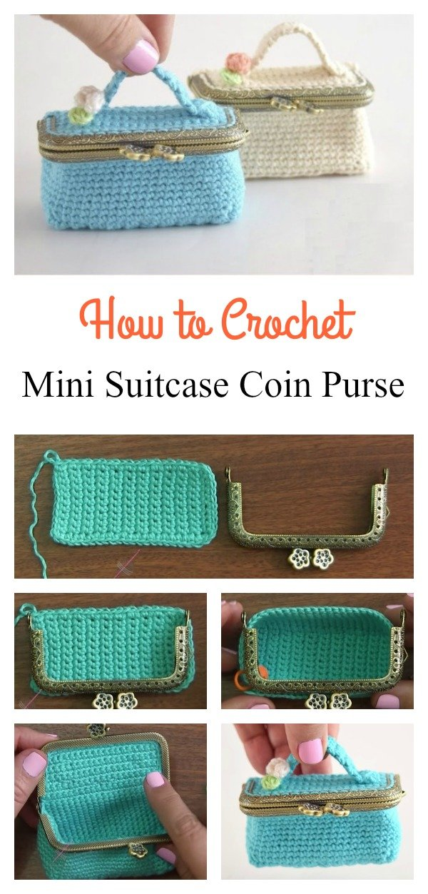How to Crochet Mini Suitcase Coin Purse