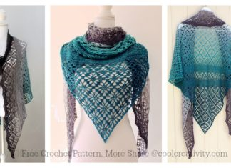 Maestrale Lace Shawl Wrap Free Crochet Pattern and Video Tutorial