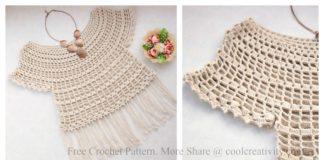 Modest Princess Summer Top Free Crochet Pattern