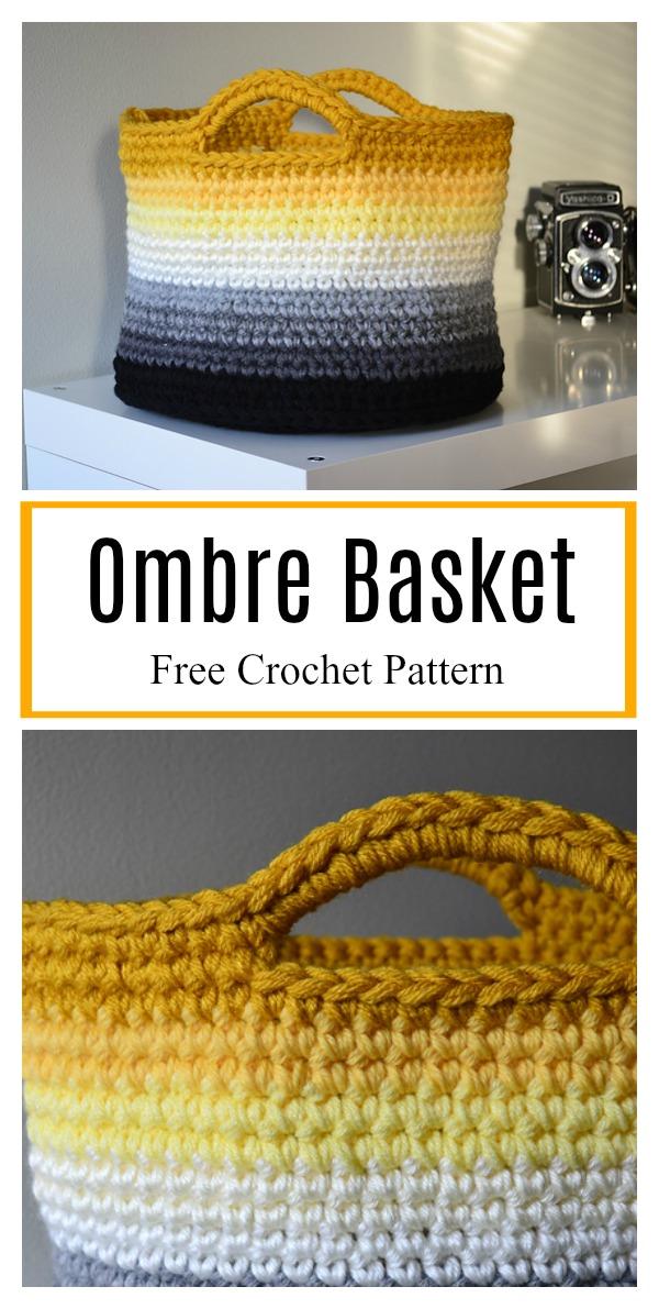 Ombre Basket Free Crochet Pattern