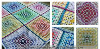 Patchwork Granny Square Blanket Free Crochet Pattern