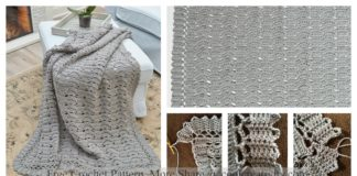 Remembering Bruges Shell Stitch Blanket Free Crochet Pattern