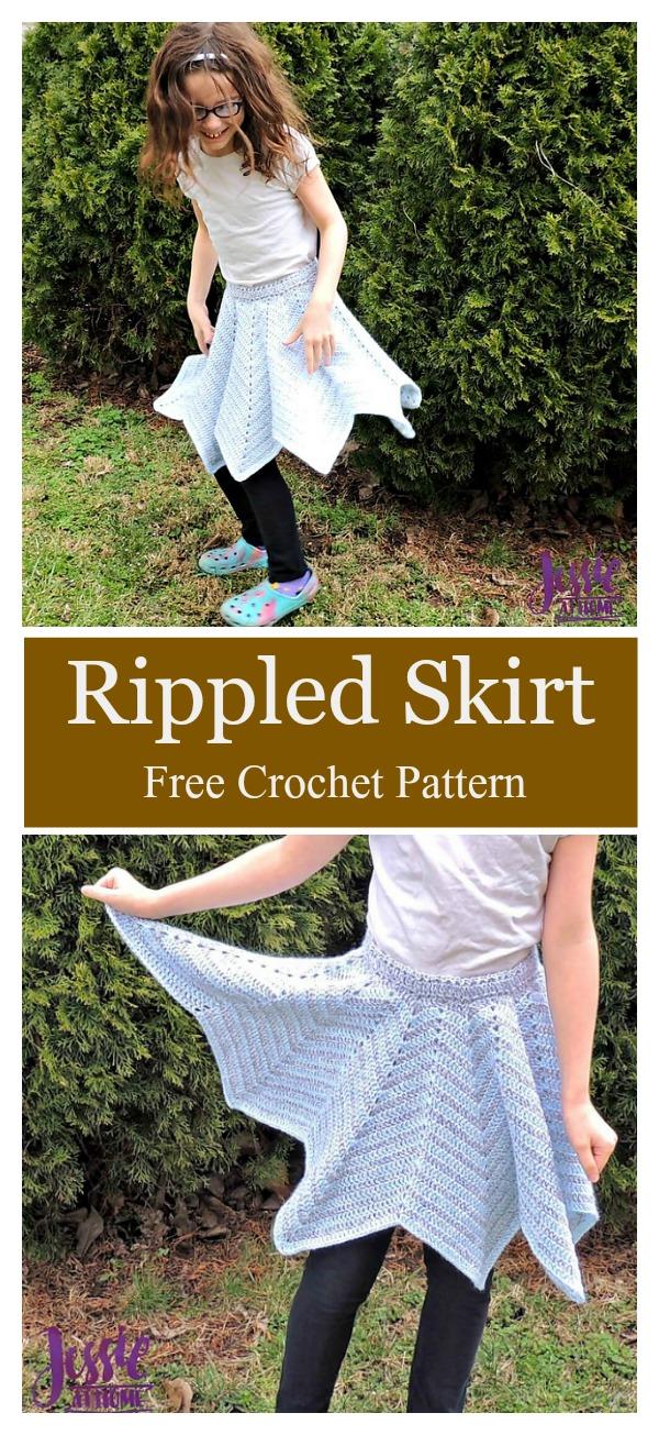 Rippled Skirt Free Crochet Pattern