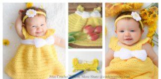Simply Spring Baby Dress Free Crochet Pattern