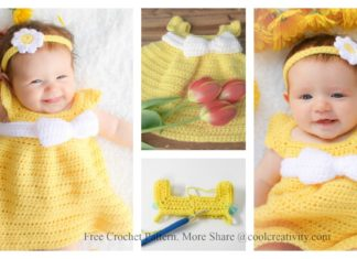Simply Spring Baby Dress Free Crochet Pattern