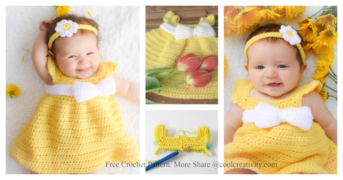 2182fe5ca Simply Spring Baby Dress Free Crochet Pattern