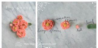 Tiny Peony Flower Free Crochet Pattern