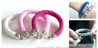 Tube Bracelet Free Crochet Pattern and Video Tutorial