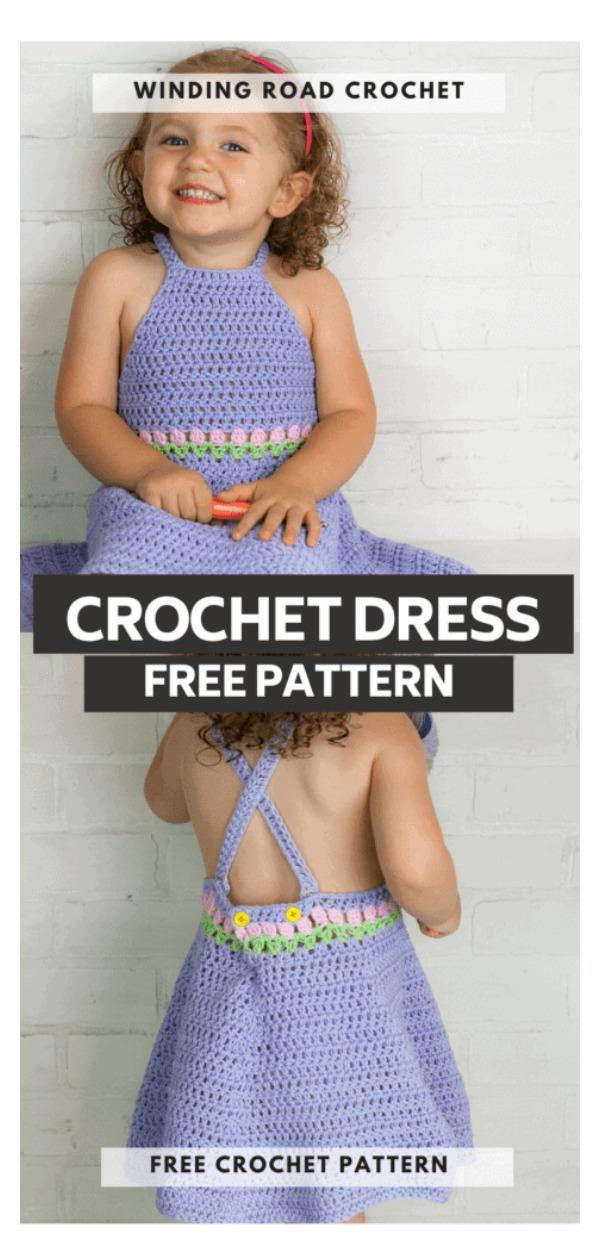 Tuip Baby Dress Free Crochet Pattern