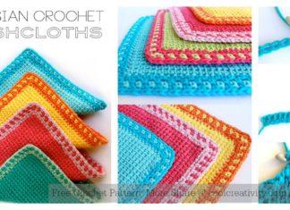 Tunisian Stitch Washcloths Free Crochet Pattern