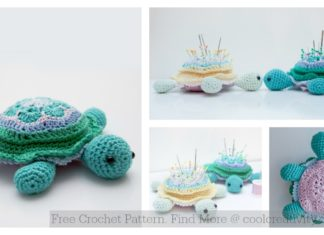 African Flower Hexagon Motif Turtle Free Crochet Pattern