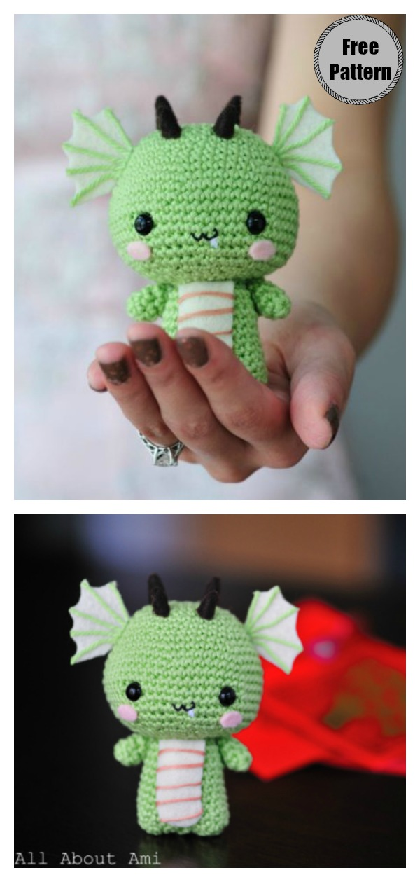 Amigurumi Baby Dragon Free Crochet Pattern