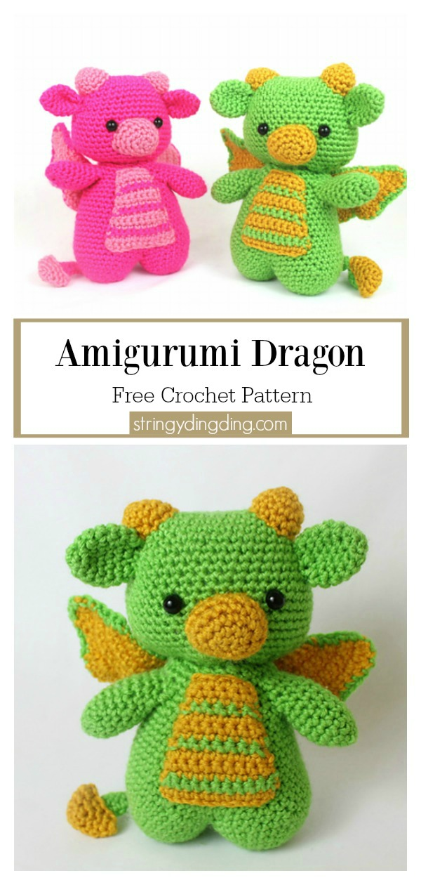 Crochet Dragon Amigurumi Tutorial & Pattern - YouTube | 1260x600