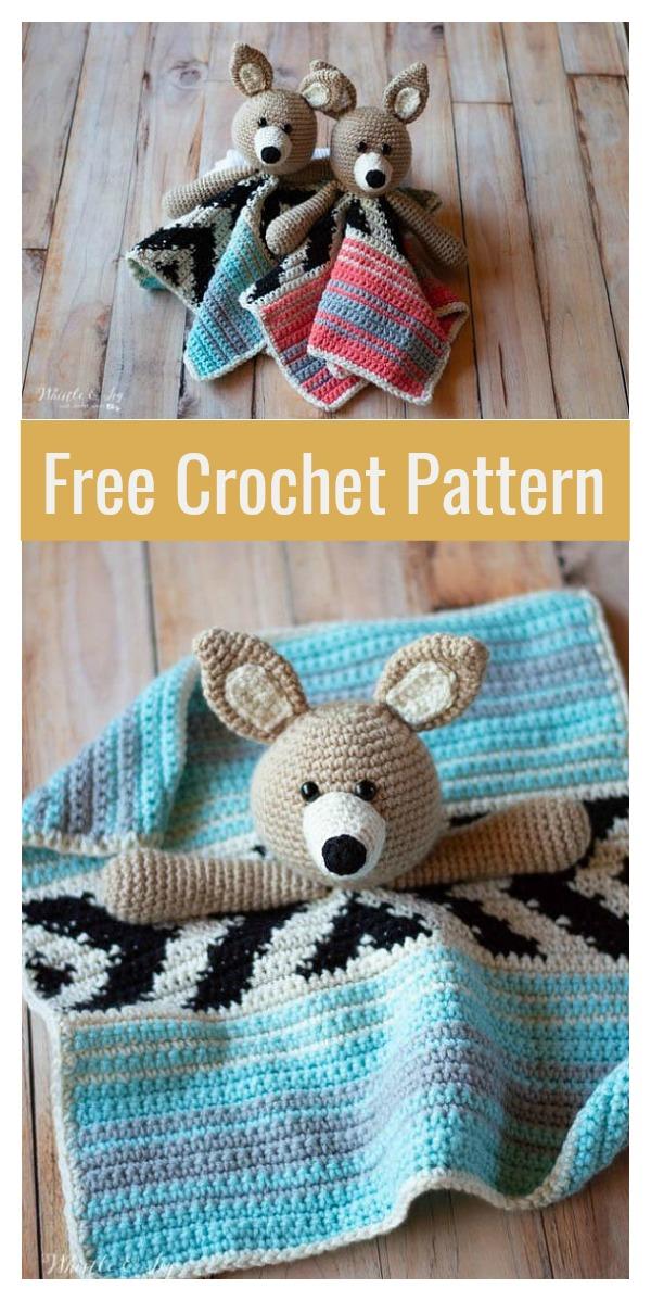 Amigurumi Coyote Lovey Free Crochet Pattern