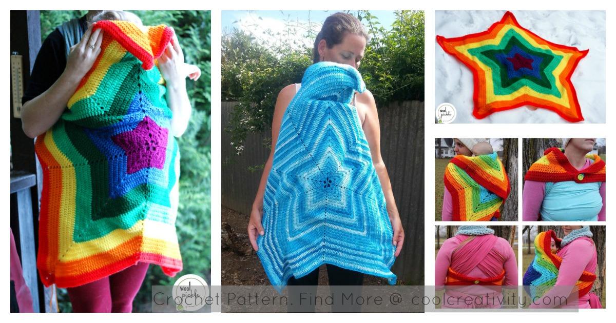 Baby Wearing Star Blanket Crochet Pattern
