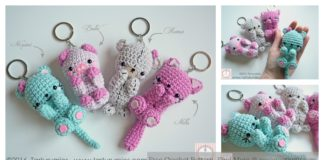 Amigurumi Bear Keychain Free Crochet Pattern