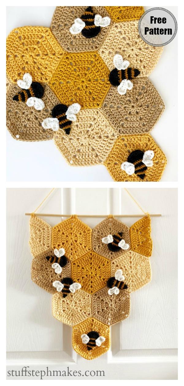 Beehive Banner Free Crochet Pattern