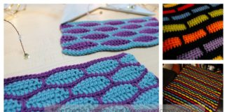 Brick Stitch Free Crochet Pattern and Video Tutorial