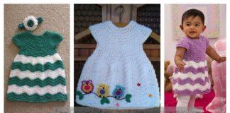 Chevron Chic Baby Dress Free Crochet Pattern and Video Tutorial