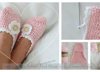 Cute Slippers Free Crochet Pattern