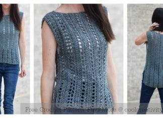 Easy Sleeveless Top Free Crochet Pattern