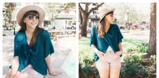 Easy twist Poncho Sweater Free Crochet Pattern and Video Tutorial