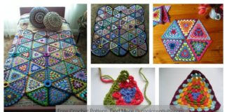 Granny Triangle Afghan Blanket Free Crochet Pattern