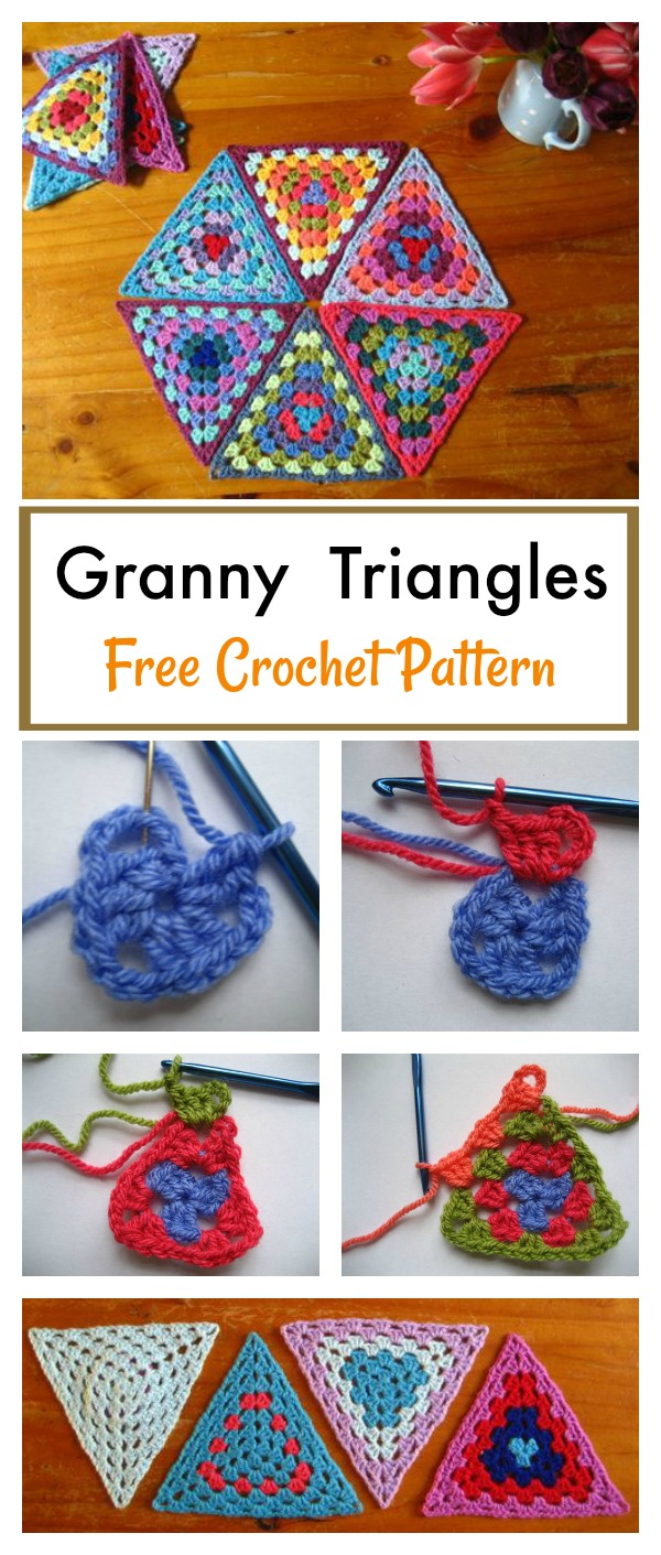 Granny Triangle Free Crochet Pattern