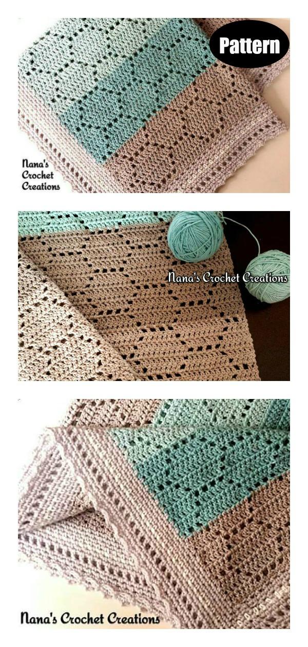 Honeycomb Baby Blanket Crochet Pattern
