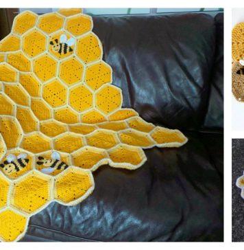 Honeycomb Baby Blanket Free Crochet Pattern