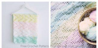 Hopscotch Lace Baby Blanket Free Crochet Pattern