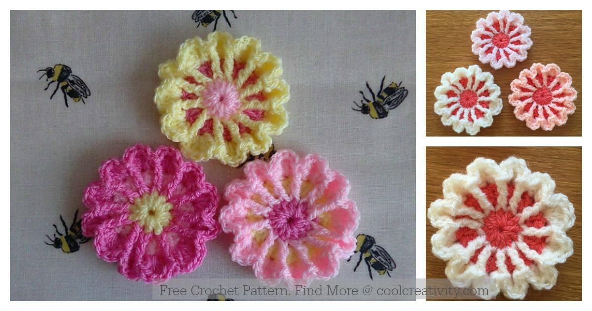 March Flower Free Crochet Pattern