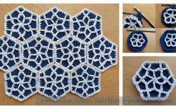 Moroccan Hexagon Motif Free Crochet Pattern