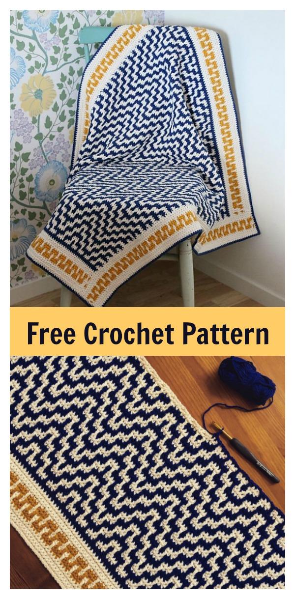 One Step Beyond Blanket Free Crochet Pattern