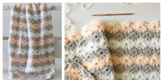 Petal Stitch Baby Blanket Free Crochet Pattern and Video Tutorial