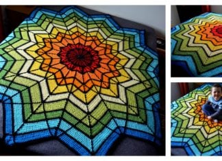 Stained Glass Ripple Baby Blanket Free Crochet Pattern