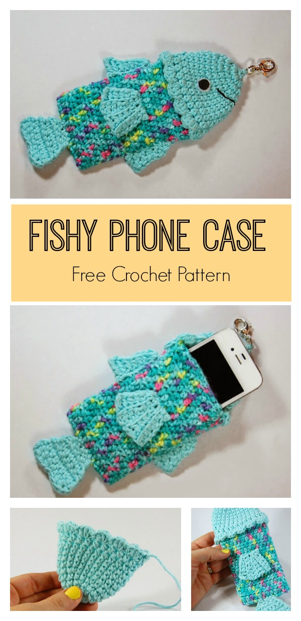 Summertime Fishy Phone Case Free Crochet Pattern