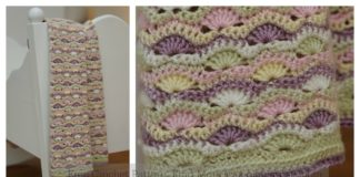 Wavy Shell Stitch Baby Blanket Free Crochet Pattern
