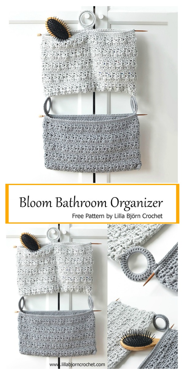 Bathroom Organizer Free Crochet Pattern Cool Creativities