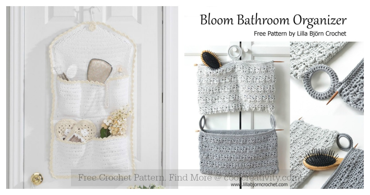 Bathroom Organizer Free Crochet Pattern