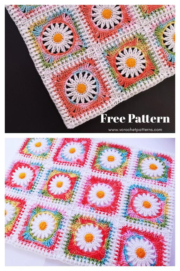 Blanket Daisiest Free Crochet Pattern