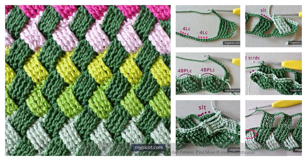 Celtic Basket Weave Stitch Free Crochet Pattern