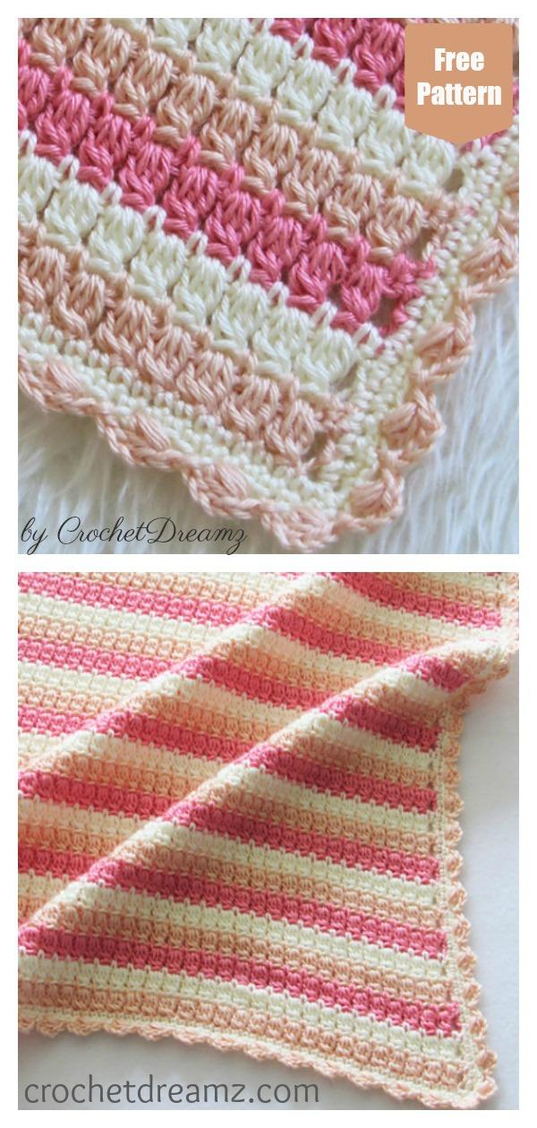 Cluster Stitch Blanket Free Crochet Pattern